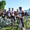 Une excellente ambiance régnait au départ entre les coureurs !