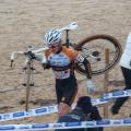 Aurélien DANIEL préfère porter le vélo dans les parties sablonneuses
