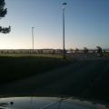 La sortie d\'entrainement amène les coureurs vers la côte