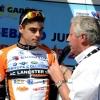 Thomas Denis sur le podium 1ère étape