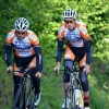 Maxime Lannurien et Yoann Selo à l'échauffement