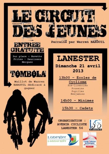 Affiche du Circuit des Jeunes 2013