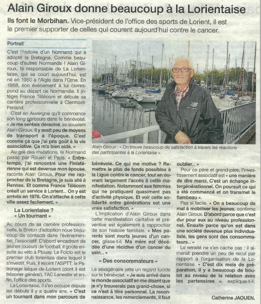 Article du Ouest-France du 06-10-2013 (Cliquez sur l'article pour l'agrandir)