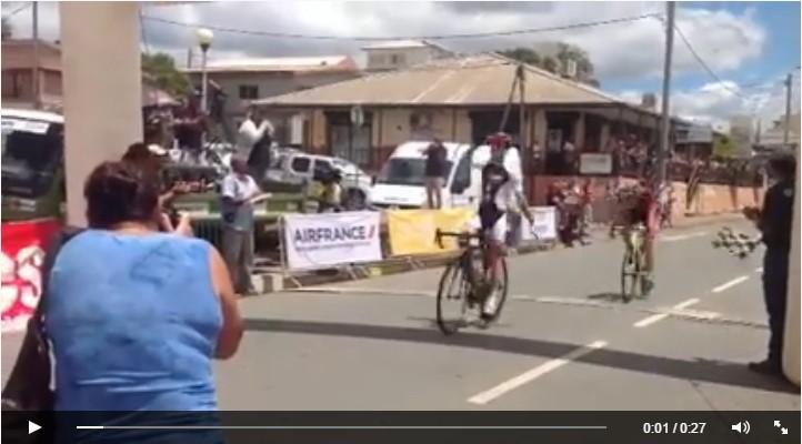 Victoire de Mael Nivinou en Nouvelle Calédonie 9ème étape